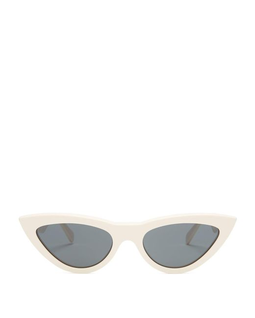 Céline - White Cat Eye Acetate Sunglasses - Lyst