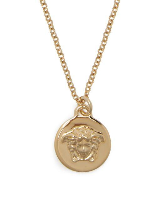 Versace Metallic Medusa Coin Necklace