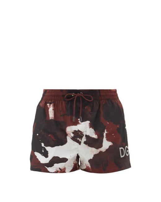 メンズ Dolce & Gabbana カモフラージュ スイムショーツ Multicolor