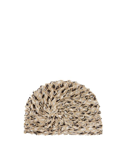 Missoni Knotted Metallic Mesh Turban Hat