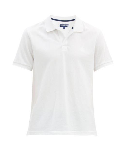 メンズ Vilebrequin コットンピケ ポロシャツ White