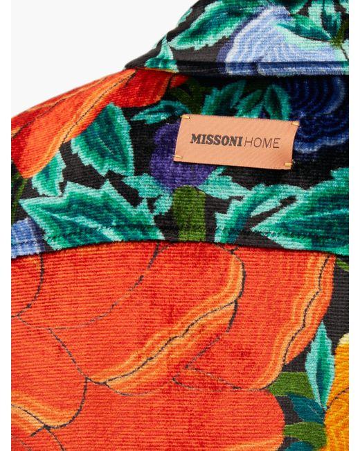 Veste-chemise en velours surcyclé à imprimé floral M Missoni en coloris Multicolor