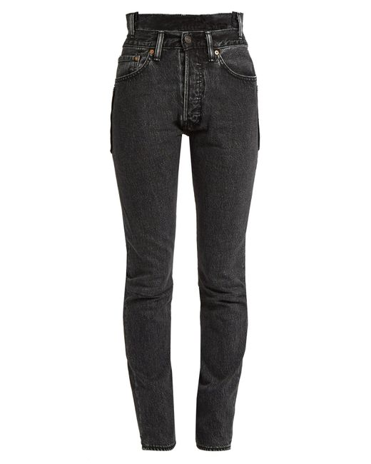 Vetements Black X Levi's Reworked High-waisted Skinny Jeans