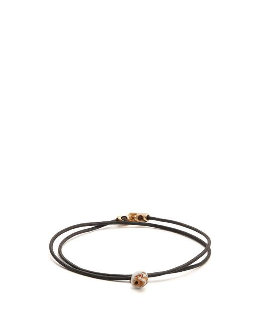 Luis Morais - Black Double Wrap Skull Bracelet for Men - Lyst