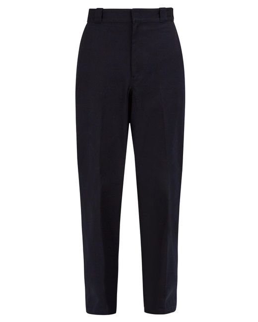Prada - Blue Straight Leg Cotton Trousers for Men - Lyst