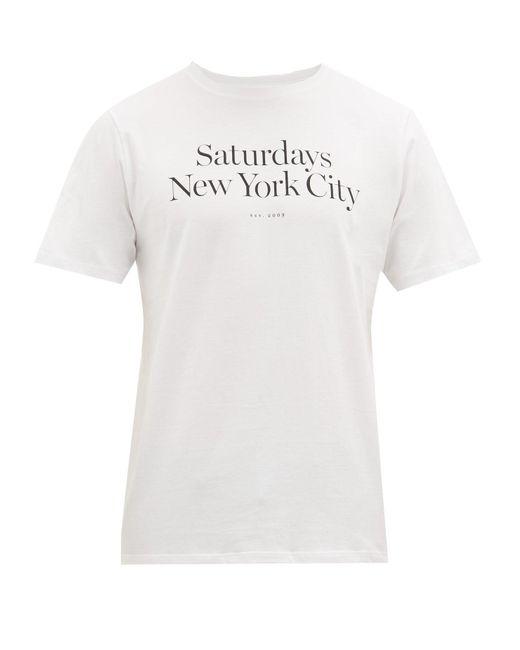 メンズ Saturdays NYC ミラー コットンtシャツ White