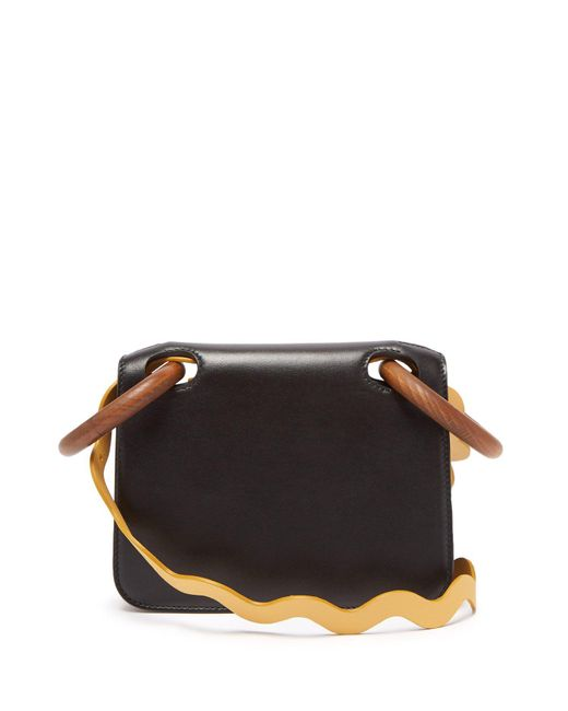 Roksanda - Black Neneh Wave Strap Leather Cross Body Bag - Lyst