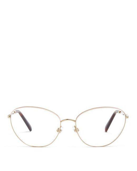 Oval cat-eye metal glasses Valentino rRrM8w63