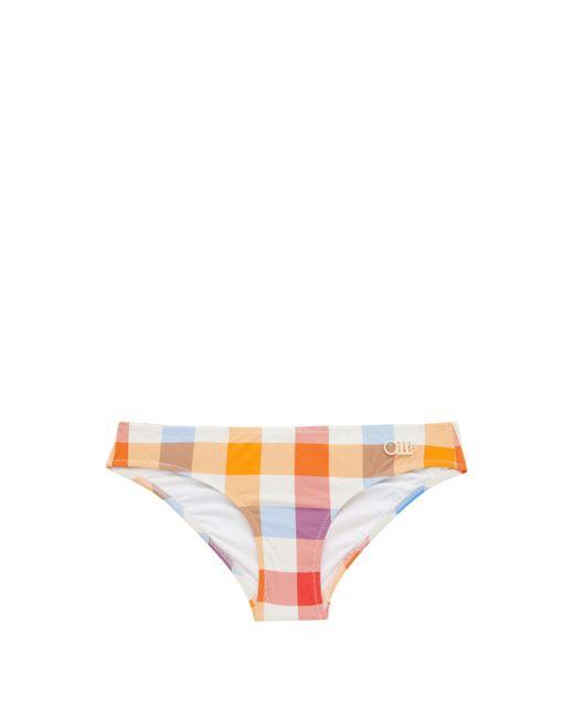 Solid & Striped ザ エル チェック ビキニボトム Multicolor