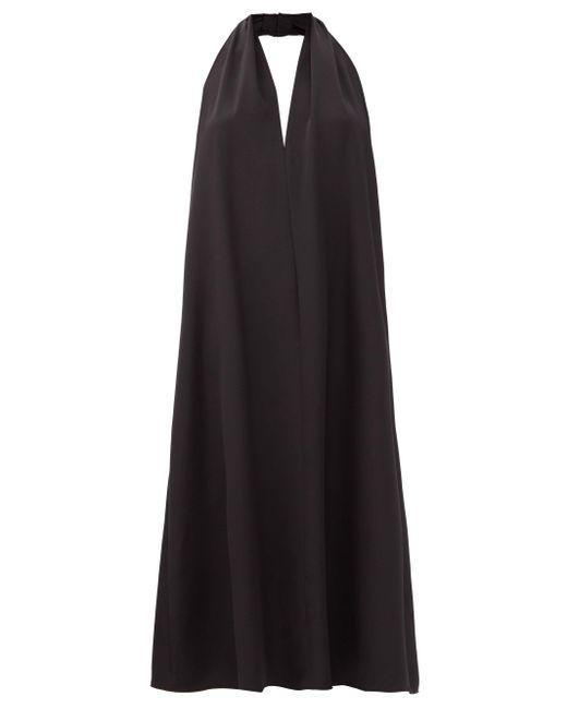 La Collection クラウディア ホルターネック シルククレープドレス Black