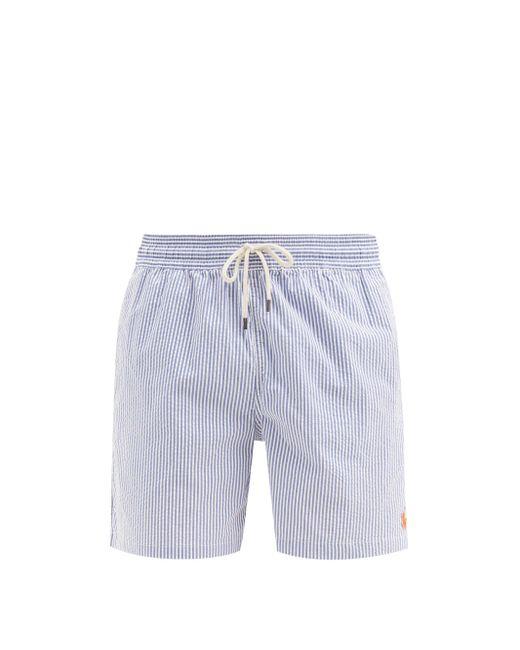 メンズ Polo Ralph Lauren トラベラー シアサッカースイムショーツ Blue