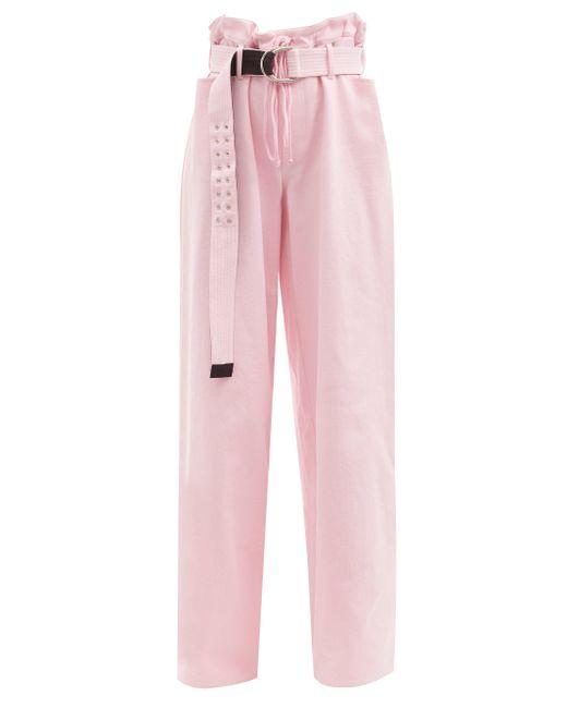 La Fetiche キース ペーパーバッグウエスト ワイドデニムパンツ Pink