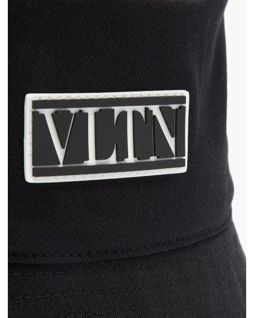 メンズ Valentino Garavani Vltn キャンバスバケットハット Black