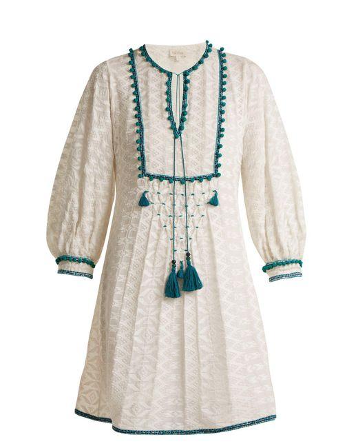 Talitha - Multicolor Ilaria Tassel Embellished Silk Blend Dress - Lyst