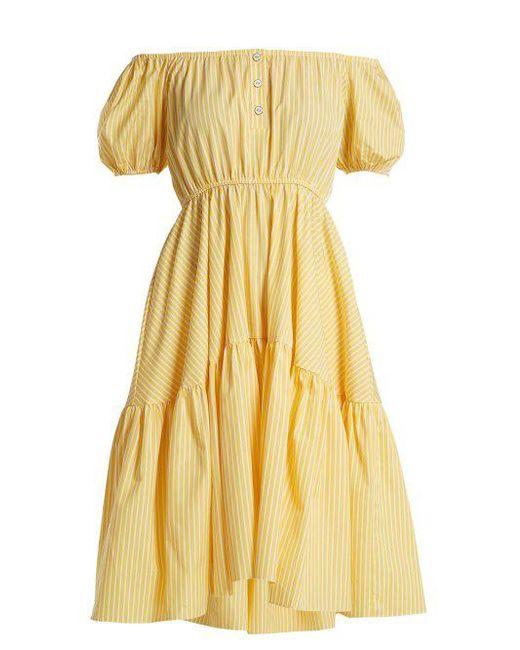 precios Barato Constas en Liquidación con Outlet Vestido Mejores Proveedor Costo volantes grande más Bardot Ebay Caroline venta aIv4q