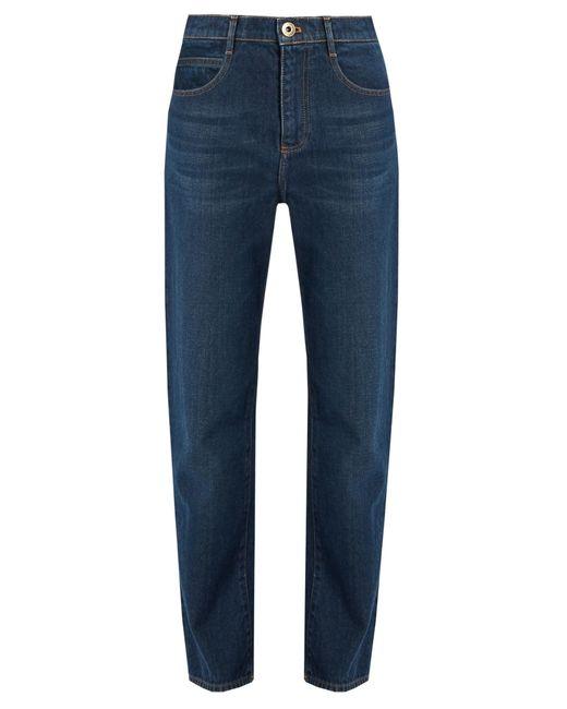Chloé | Blue Mid-rise Straight-leg Jeans | Lyst