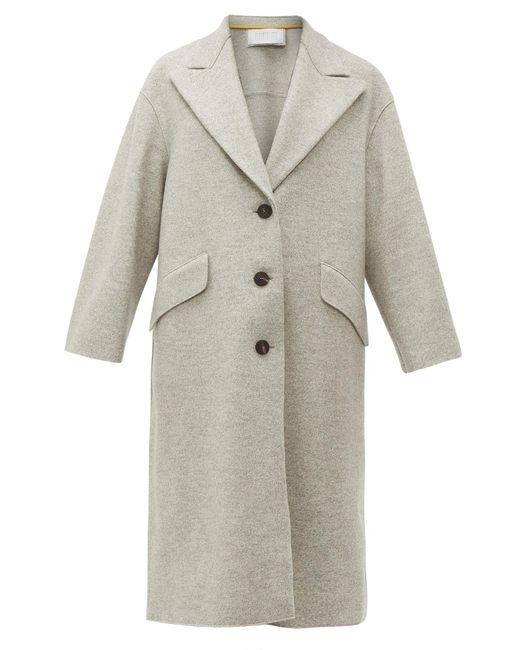 Harris Wharf London プレスウール シングルコート Multicolor