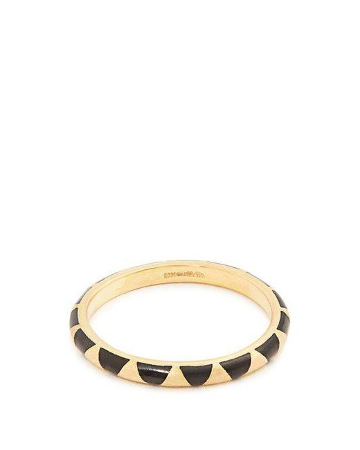 Marc Alary - Black Enamel & Yellow-gold Ring - Lyst