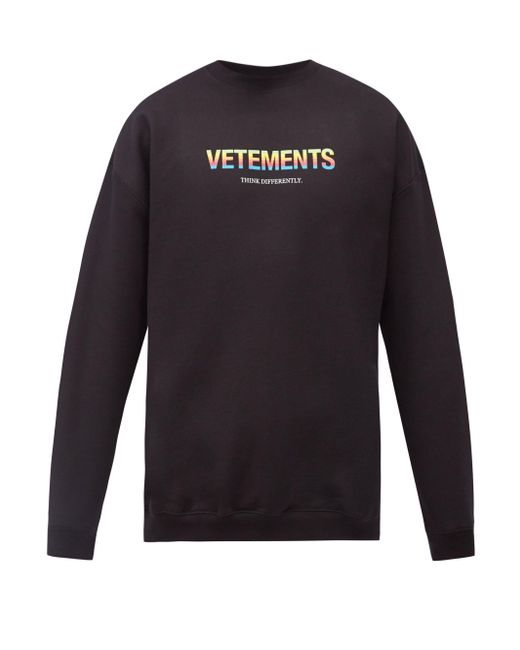 メンズ Vetements コットンブレンドスウェットシャツ Multicolor