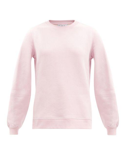 Ganni ソフトウェア リサイクルコットンブレンド スウェットシャツ Pink