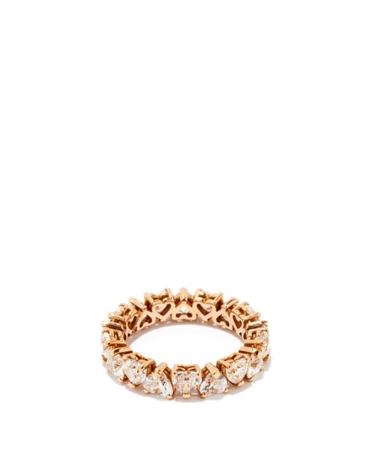 SHAY ハートダイヤモンド 18kローズゴールドエタニティリング Multicolor