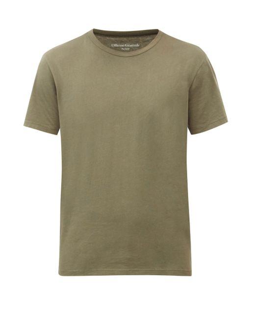 メンズ Officine Generale Officine Générale コットンtシャツ Green