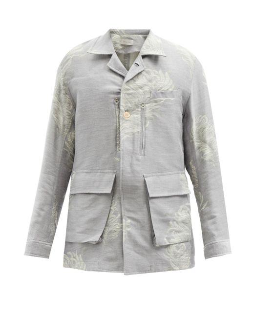 メンズ Bed J.w. Ford フェザージャカード コットンブレンドジャケット Gray