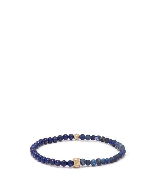Luis Morais - Blue Skull Charm Beaded Bracelet for Men - Lyst