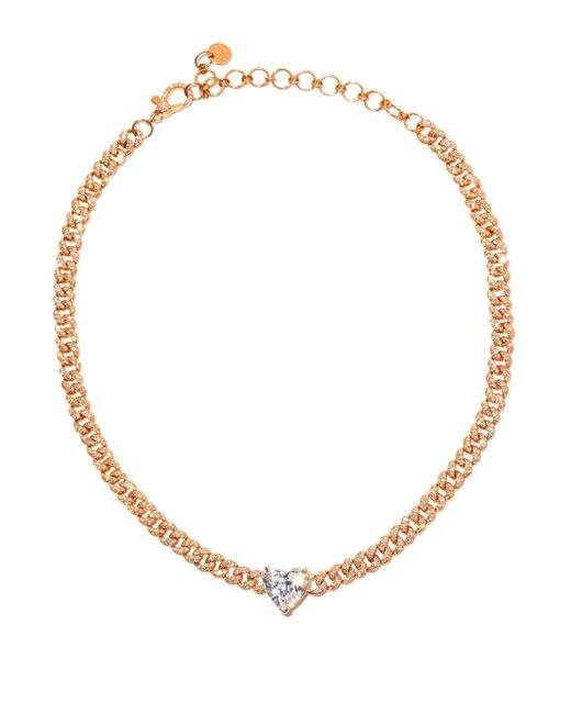 SHAY ハートダイヤモンド 18kローズゴールドチョーカー Multicolor