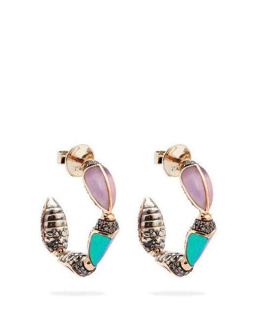 Bibi van der Velden Scarab Hoop Earrings 7G0VOa0oZ