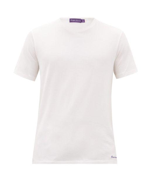 メンズ Ralph Lauren Purple Label クルーネック コットンライルtシャツ Multicolor