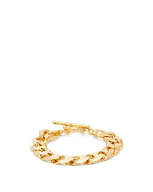 All_blues Metallic Moto Flat-chain Gold-vermeil Bracelet