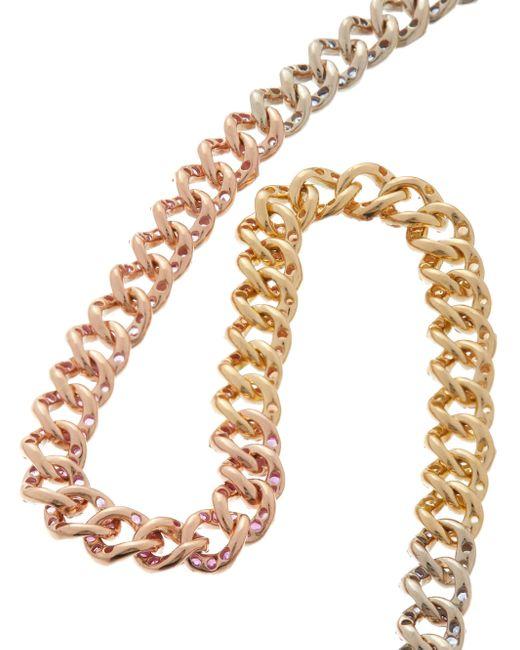 SHAY レインボー ダイヤモンド&ルビー 18kゴールドアンクルブレスレット Brown