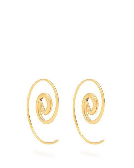 Noor Fares - Metallic Spiral Yellow-gold Earrings - Lyst