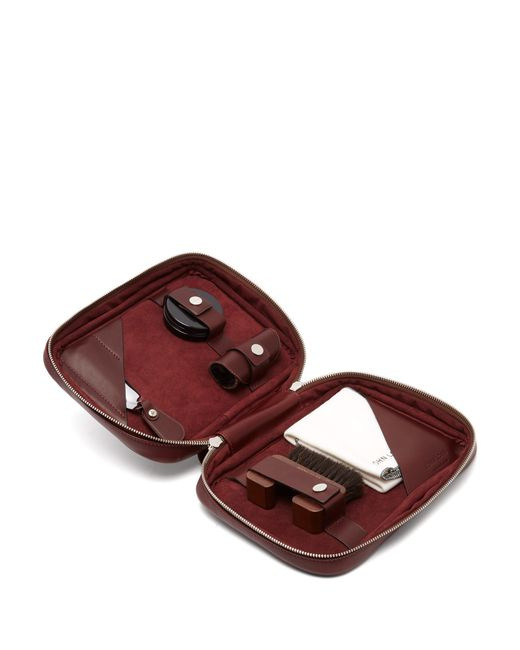 John Lobb - Brown Étui en cuir pour l'entretien des chaussures for Men - Lyst