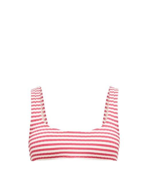 Solid & Striped ザ エル リブジャージー ビキニトップ Pink