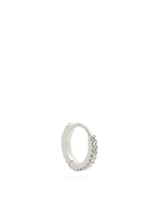 Maria Tash Eternity ダイヤモンド 18kホワイトゴールド ピアス Multicolor