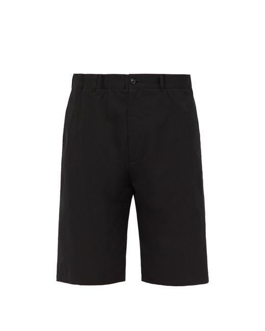 Maison Margiela - Black Short en sergé de coton à taille élastique for Men - Lyst