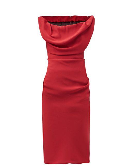 Vivienne Westwood ジニー カウルネック サテンドレス Red