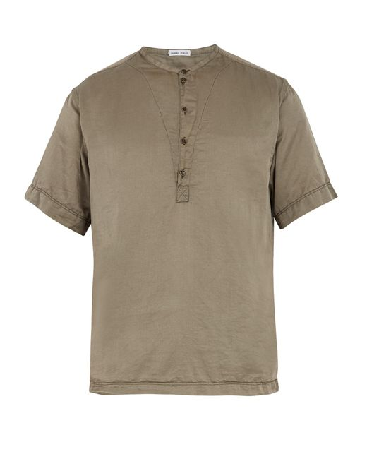 Lyst tomas maier cotton and silk blend t shirt in for Cotton silk tee shirts