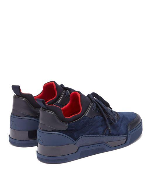 3b72edce231 Men's Blue Aurelien Low Top Suede Trainers