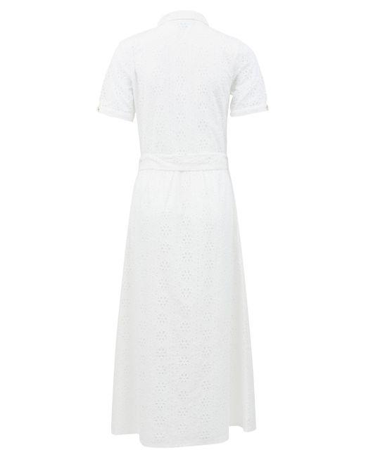 Melissa Odabash ヴァネッサ アイレットレース シャツドレス White