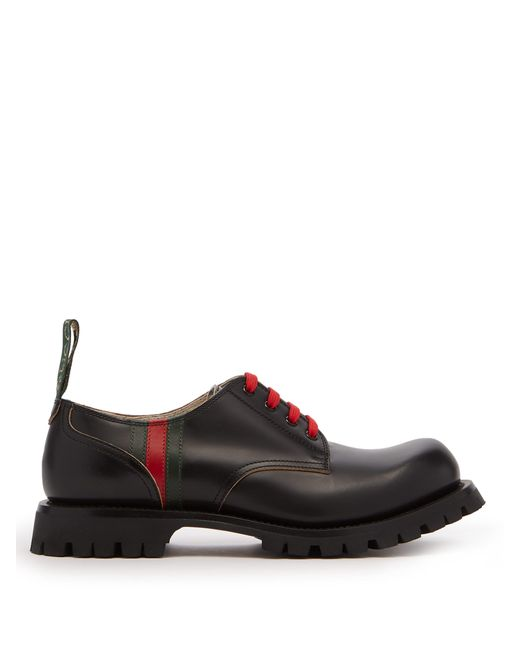 Gucci - Black Derbies en cuir Arley for Men - Lyst