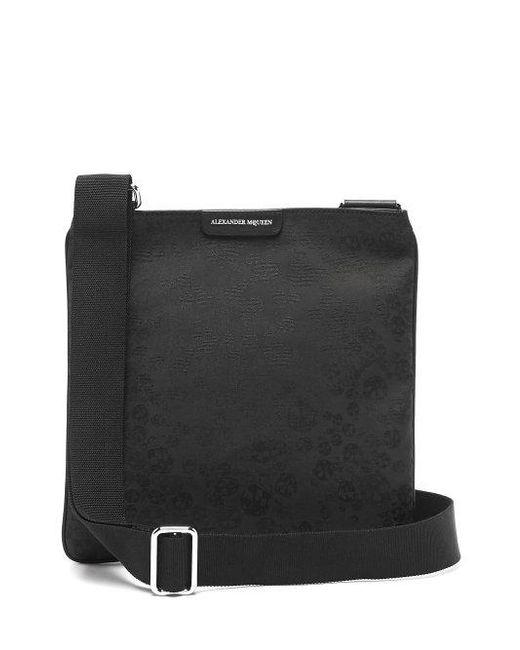 Lyst - Alexander Mcqueen Skull-jacquard Cross-body Bag in Black for Men 2a3b4416717e6