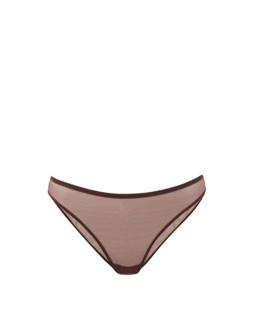 Agent Provocateur ラッキー ハイレッグ メッシュショーツ Brown