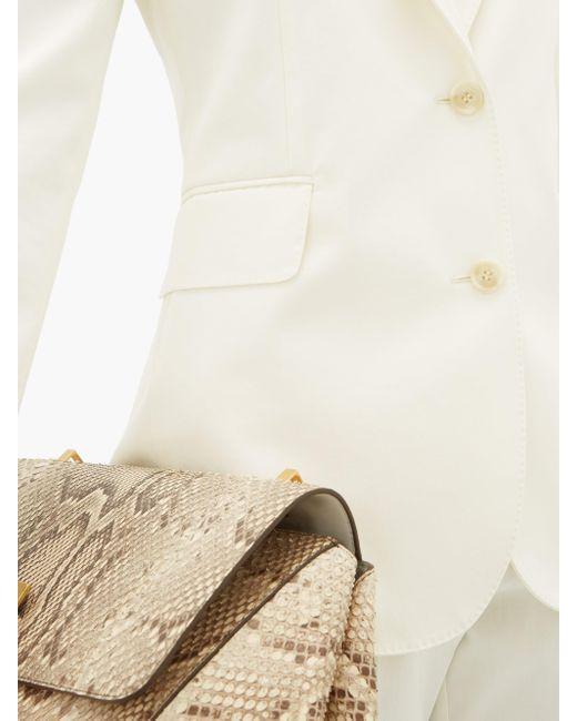 Gabriela Hearst ソフィー コットン シングルジャケット White