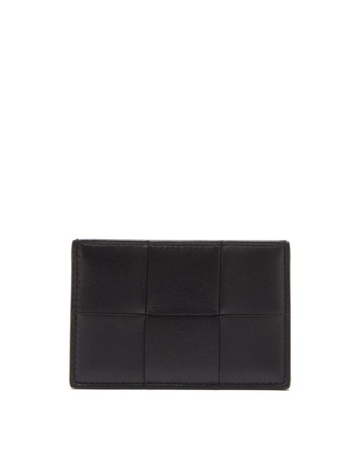 Bottega Veneta イントレチャートレザー カードケース Black