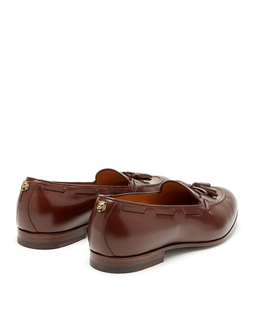 7dc1a9604eb ... Gucci - Brown Loomis Leather Tassel Loafers for Men - Lyst ...