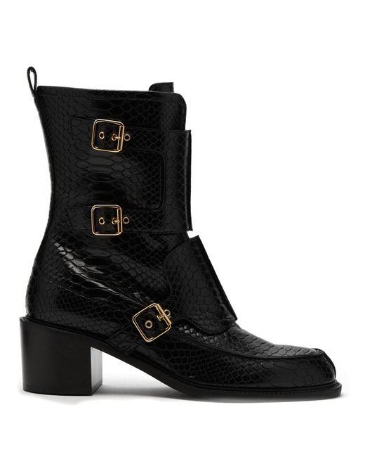 fe1e9019f05 Stella McCartney - Black Crocodile Effect Faux Leather Boots - Lyst ...