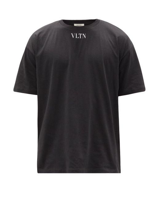 メンズ Valentino Vltnコットンtシャツ Black